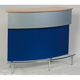 Bar und Infotheke blau